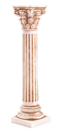 corinthian: corinthian column on white