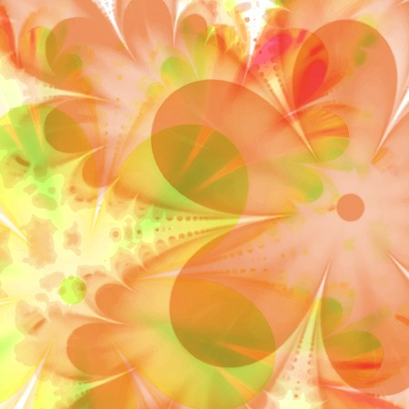 printed media: Abstract Flower texture, yellow, red. Modern colorful pattern resembling watercolor strokes. Design element for backgrounds, printed media, web banners, etc. Illustration