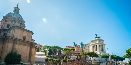Ruins of the Roman Forum in Rome, Italy. Rome is the 3rd most visited city in the European Union. photo