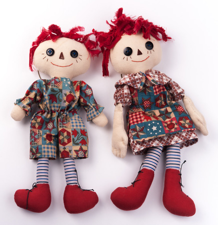 raggedy: Funny couple. Halloween toys.