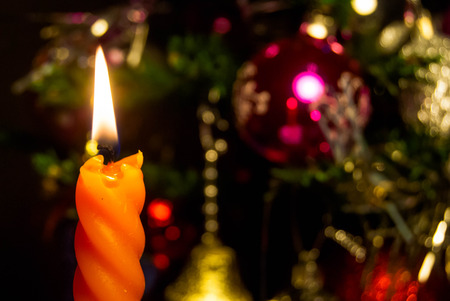 happy holidays: christmas candles