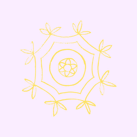 snoflake: Hand drawn snoflake Illustration