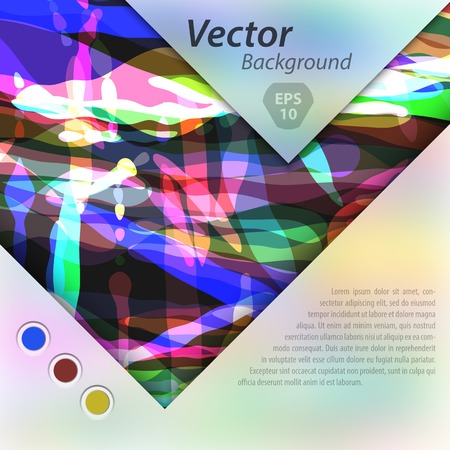 separately: Abstract vector template design, brochure, Web sites, page, leaflet, with colorful geometric triangular backgrounds,  text separately. Illustration
