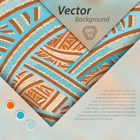 separately: Abstract vector template design, brochure, Web sites, page, leaflet, with colorful geometric triangular backgrounds, text separately.