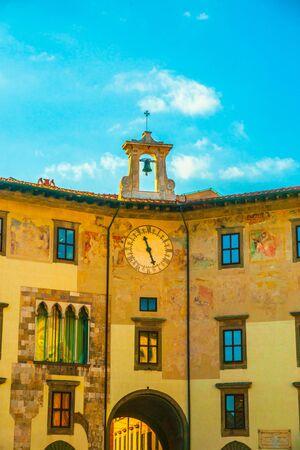 Pisa, Italy - Clock Palace (Palazzo del Orologio). One of the landmarks in Pisa.