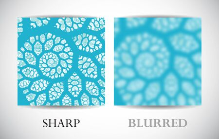 Abstract background with left side with blurred surface. Asymmetrical template for web and graphic interface. Vector