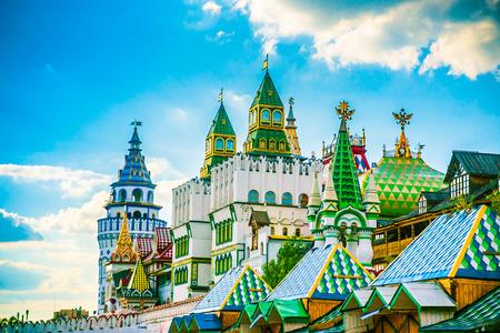 cupolas: Izmaylovo Kremlin in Moscow, Russia