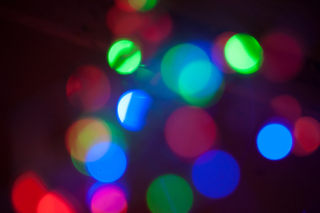 colorful lights: Blurred background, defocused photo of colorful lights