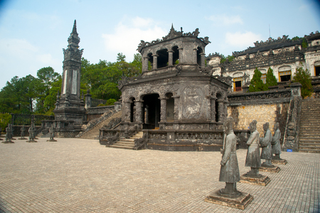 Tomb of Khai Dinh keizer in Hue, Vietnam. Stockfoto