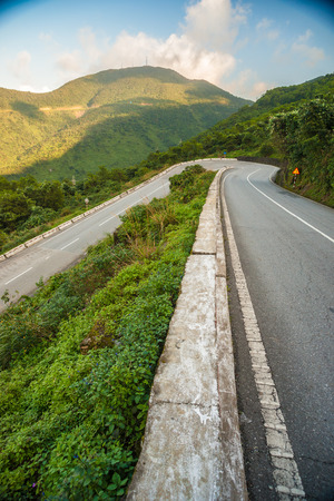 Hai Van pass - the famous road which leads along the coastline m photo