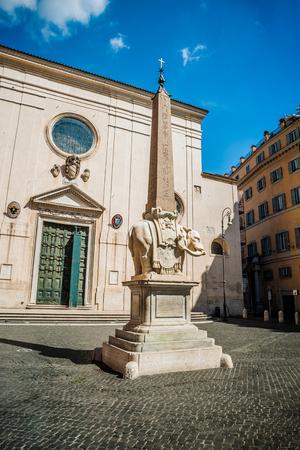 minerva: Rome - obelisk in Piazza Santa Maria sopra Minerva