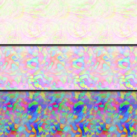 wickerwork: Set of seamless patterns