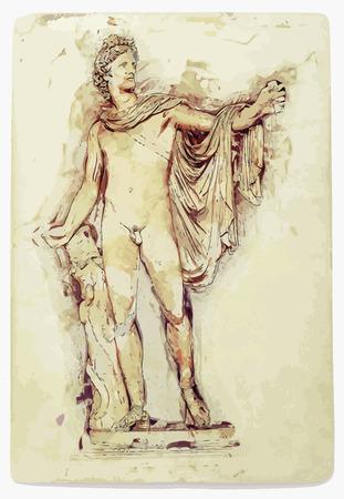 Apollo Belvedere statue.
