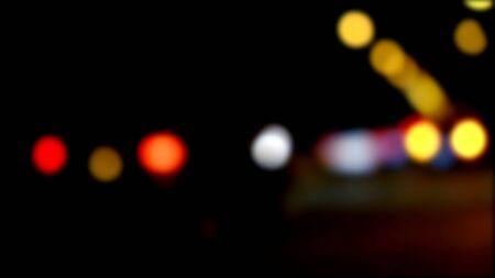 vj: Defocused night traffic lights, blurred abstract