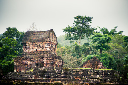 past civilizations: My Son, Ancient Hindu tamples of Cham culture in Vietnam near the cities of Hoi An and Da Nang.