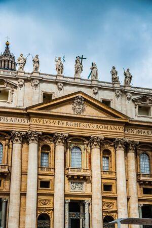 tourist attractions: St. Peters Basilica, one of the main tourist attractions of Rome.
