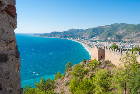 castle of Alanya and the Cleopatra beach, Antalya, Turkey