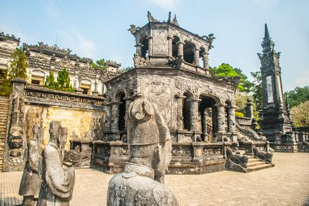 Tomb of Khai Dinh emperor in Hue, Vietnam.