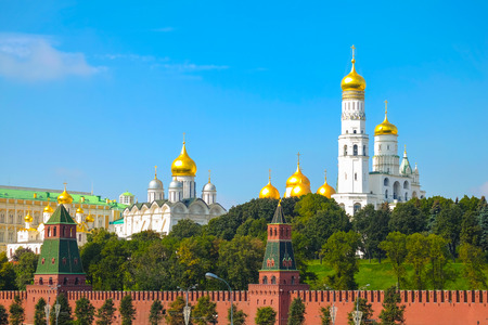 Kremlin battlement in Moscow, Russia photo