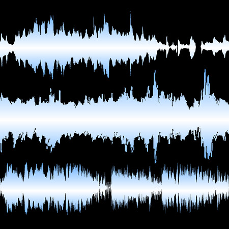 Set of colorful waveforms, vintage abstract background and symbol for music, sound engineering, and dance Vector