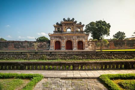 Beautiful site of Citadel in Hue, Vietnam. Citadel in Hue is enlisted