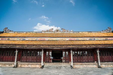 hue: Beautiful site of Citadel in Hue, Vietnam. Citadel in Hue is enlisted