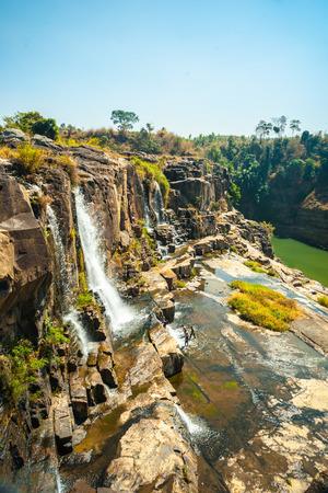 lat: The big Pongour waterfall near Da Lat city, Vietnam Stock Photo