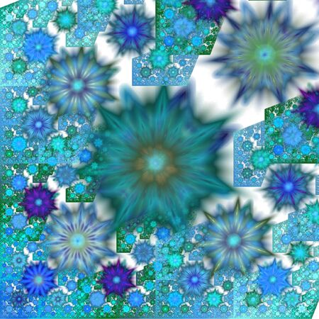 freezed: Abstract winter background with pattern that resembles snowflakes and freezed windows.
