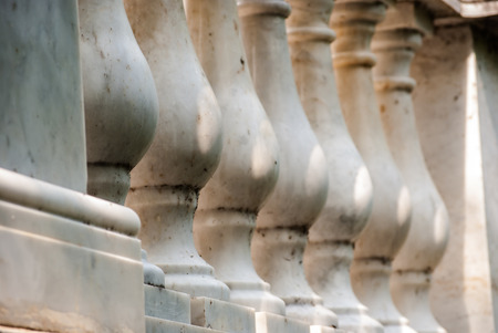 solidity: marble columns Stock Photo