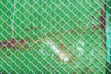 oxidized: metal background painted with green paint
