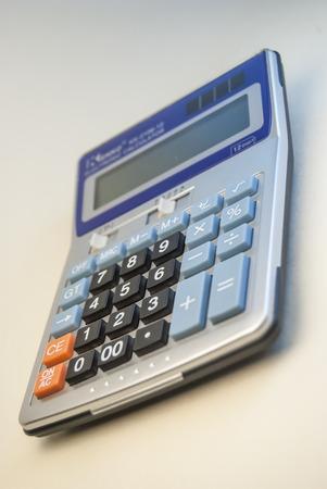 whitem: calculator isolated on whitem office object Stock Photo