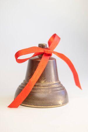 christmas bells on white background photo