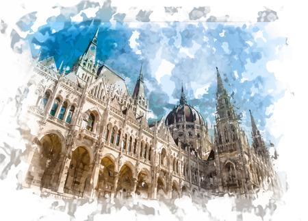 Beroemde gebouw van de Hongaarse Parlement, neogotische mijlpaal in Boedapest.