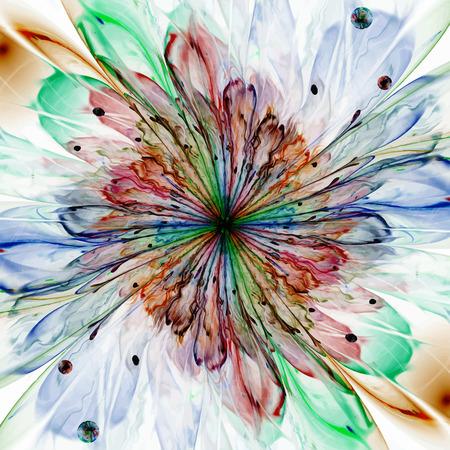 Digitally recreated watercolor flower texture. Vector