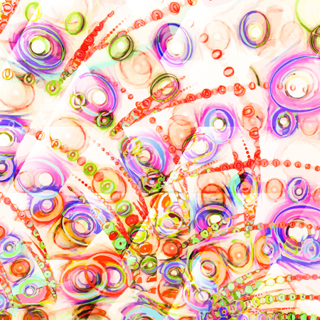 metafoor: Samenstelling van abstracte radiale net en lichten als concept metafoor voor technologie, wetenschap en entertainment Stock Illustratie