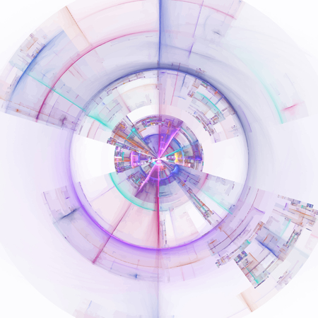 metaphor: Composition of abstract radial grid and lights as a concept metaphor for technology, science and entertainment Illustration