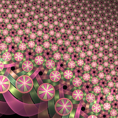 Abstract multicolored background with stylized flowers and banners. For invitations, wedding, printed media and other comercial usage.