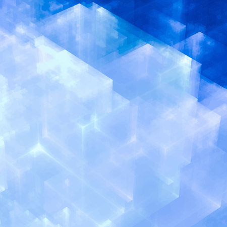 abstracts: Abstracts background with transparent rectangular shapes as conceptual metaphor for modern technology, science and business. Illustration