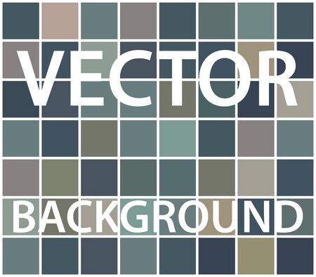 Abstract background with randomly colored squares. Stylish vintage colors, retro pattern for a variety of design uses. Vector
