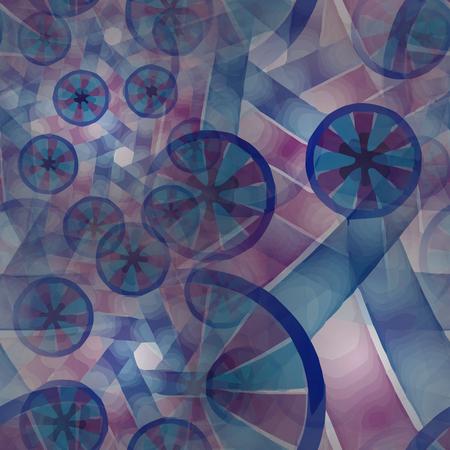 metafoor: Naadloos patroon. Samenstelling van abstracte radiale net en lichten als concept metafoor voor technologie, wetenschap en entertainment Stock Illustratie