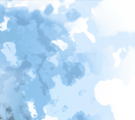 sponged: Abstract background texture with blue strokes of paint. Painted paper background for use as a background or design element. Abstract representations of blue sky, clouds or water. Illustration