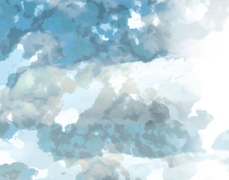 spattered: Abstract background texture with blue strokes of paint. Painted paper background for use as a background or design element. Abstract representations of blue sky, clouds or water. Illustration