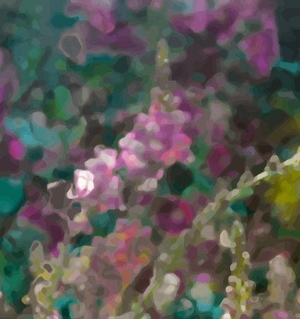 opium poppy: Abstract flower painting. Grungy background texture for text  or website. Beautiful spring flowers painted with brushstrokes and digitally modified.
