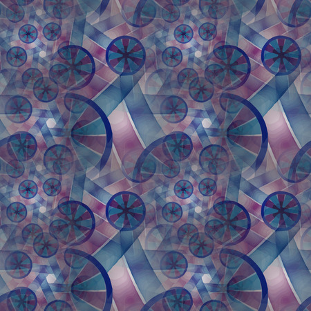 scientifical: Seamless pattern. Composition of abstract radial grid and lights as a concept metaphor for technology, science and entertainment
