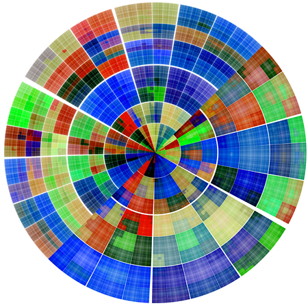 scientifical: Composition of abstract radial grid and lights as a concept metaphor for technology, science and entertainment Stock Photo