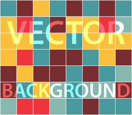 twill: Abstract background with randomly colored squares. Stylish vintage colors, retro pattern for a variety of design uses.