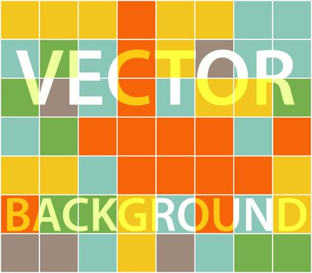 menswear: Abstract background with randomly colored squares. Stylish vintage colors, retro pattern for a variety of design uses.