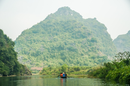 tropical  forest: Beautiful Sights near Trang An Grottoes, one of the main destinations in Ninh Binh Province, Vietnam Stock Photo