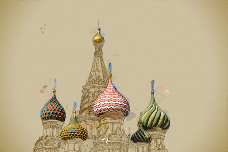 st  basil: St. Basil (Cathedral of the Protection of the Virgin on the Ditch) Moscow Stock Photo