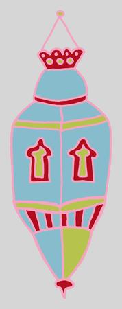 ramzan: Dibujos de colores de lantrn. Dibujado a mano las im�genes de los artefactos del festival isl�mico para el dise�o de fiesta. Doodles de diferentes adornos